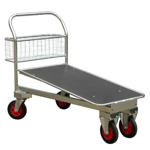 Galvanised Cash & Carry Trolley - Plywood Deck <br />540G/PA/CC/500/PLY